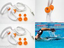 2x Auriculares Sumergibles Acuaticos Waterproof Natacion Piscina IPX8 Mp3 4086bl