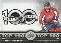 2017-18 Upper Deck Tim Hortons Top 100 #TOP-3 Alex Ovechkin Washington Capitals