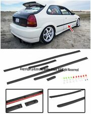 For 96-00 Honda Civic EK 3Dr Hatchback JDM Clip On Style Side Moling Trim Panels