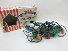 Vintage ALL AMERICAN Indoor Christmas 15 Light Strand With Original Box Works