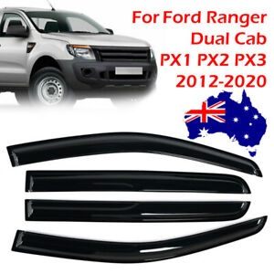 Weathershields Window Visors Weather Shields For Ford Ranger Dual Cab 2012-2020