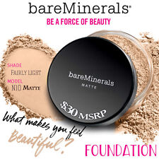 Bare Minerals Escentuals SPF 15 Foundation Matte Fairly Light N10 6g XL Sealed