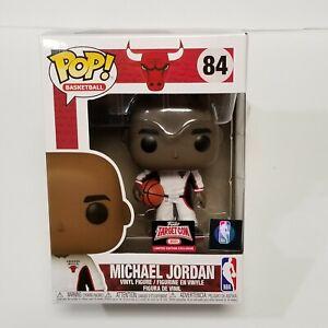 Michael Jordan Funko POP #84 Target Con 2021 Exclusive White Warm-Up Suit