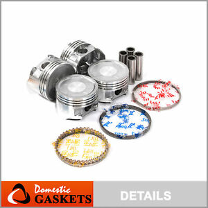 Pistons and Rings fit 95-02 Mitsubishi Mirage 1.5L SOHC 12V 4G15