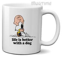 PEANUTS Snoopy Charlie Brown-La vita è migliore con un cane Tazza Tazza di Caffe 'REGALO