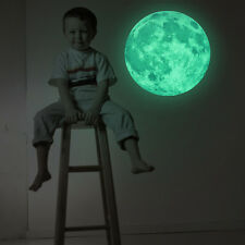 30cm Large Moon Glow in the Dark Wall Stickers Moonlight DIY Decoration