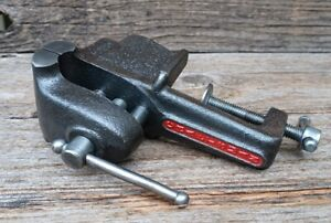 """Vintage Craftsman Tabletop Vise Clamp-On Bench Vise w/ 2 1/2"""" Jaws - Beautiful!!"""
