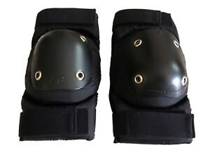 new Fox Axis elbow guards M for skating BMX pads black heavy duty nylon durable