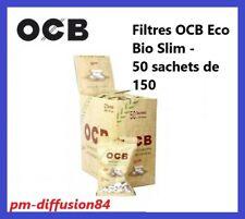 OCB - ECO - BIODEGRADABLE - 50 SACHETS de 150 FILTRES (7500 Filtres) 6mm