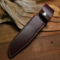 knife blade sheath cover scabbard dagger bag cow leather customize brown Z1009