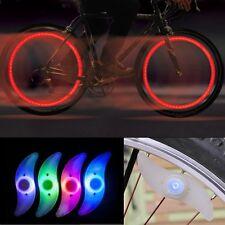 2er set LED radios de bicicleta iluminación Luz radios de rueda luz reflector lámpara