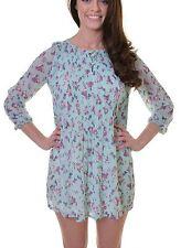 Polyester Summer/Beach Long Sleeve Short/Mini Dresses