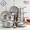 Tramontina 14-piece Tri-Ply Clad Stainless Steel Cookware Set
