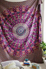 Indian Paisley Wall Hanging Hippie Mandala Tapestry Bohemian Queen Bedspread