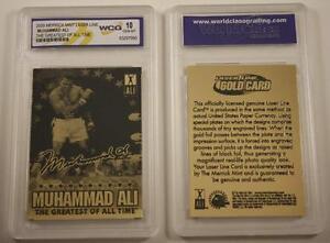 MUHAMMAD ALI 2009 Laser Line Gold Card * GEM MINT 10 * Limited Edition *LICENSED