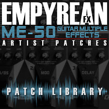 Boss ME-50 ARTIST Patches Guitar Effects Settings Presets FREE FAST SHIPPING