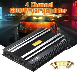5800W 4 Channel Car Audio Amplifier Speaker High Power Stereo Bass Subwoofer Amp
