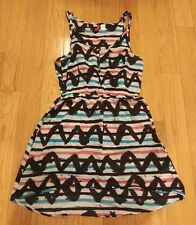 Womens tank dress Divided 8 aztec multi color above knee high low