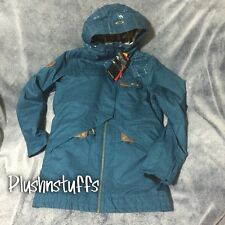 $320 NWT Oakley Womens Snowboard Ski VILLAGE Jacket Size LARGE blue Suspenders