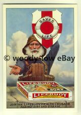 ad3438 - Lifebuoy Soap - Fisherman Holding Lifebuoy -  Modern Advert Postcard