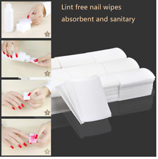 Lint Free Cotton Nail Pads Wipes UV Gel Polish Acrylics Remover Cleaner Soak Off