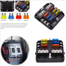 Car Truck Boats 6 Way Blade Fuse Holder Box ATC/ATO/ATF Blade Fuse Block 12/24V