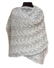 Ladies Knitting Kit for Wave Wrap / Shawl Silver Grey