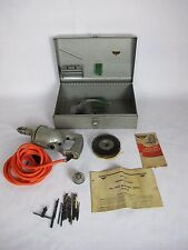 Antique 1951 Millers Falls Tools Electric Drill + Case + Accessories Model 49