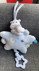 Star And Hippo Plush Nursery Hanging Toy - Lullaby - Sleep Aid baby