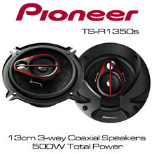 """Pioneer TS-R1350s - 5.25"""" 13cm 3-way Car Coaxial Speakers 500W Total Max Power"""