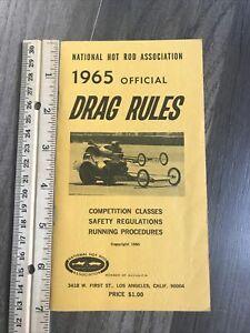 VINTAGE 1965 NHRA OFFICIAL DRAG RULES BOOK