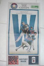 CUBS 2016 WORLD SERIES CHAMPION EDITION OF CHICAGO TIMES: ALL THREE SECTIONS