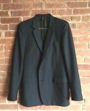 Dior Homme Sport Coat Blazer Blue Size EU 56 US 46 Slim Wool/Mohair Italy