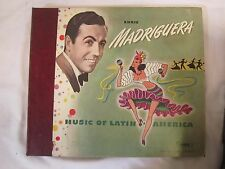 "'Music of Latin America' ENRIC MADRIGUERA (4) 10"" LP Box Set SONORA Records *"