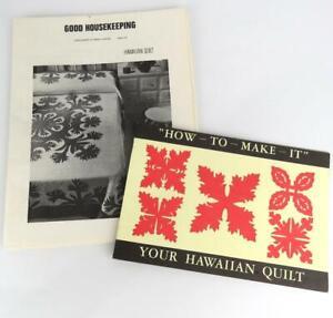 Hawaiian Quilt Pattern Instructions 1969 Un-cut Good Housekeeping + How -To-Make