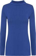 T-shirt, maglie e camicie da donna blu basici in poliestere