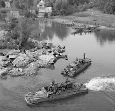 WW2 Photo WWII DUKW Amphibious Vehicles Seine River Aug 44  World War Two/ 3142