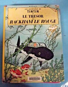 Les Aventures de Tintin le Trésor Rackham le Rouge Casterman daté 1990