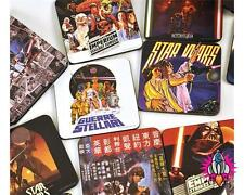STAR WARS POSTERS COFFEE TABLE COLLECTORS COASTERS SET OF 13 IN PRESENTATION TIN