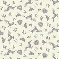 Makower Fabric Scandi Icon Scatter Grey Fat Quarter1/4  - 2220/2-MAK004