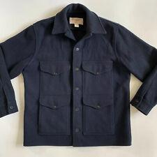 Vintage FILSON 46 Navy Blue Mackinaw Wool Cruiser Coat
