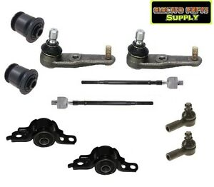 Protege 95-96 Front Ball Joint Control Arm Bushing Tie Rod Suspension Kit 10PCS