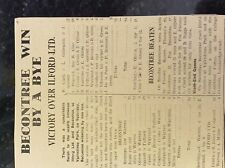 M3-9b ephemera 1941 dagenham ww2 cricket report becontree v ilford ltd tuffnell