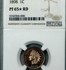 1898 Indian Head, Certified PF65*RD by NGC, Lots of RED, Great Eye Appeal (BSBC)