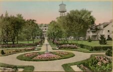 VTG Boxwood Manor Looking West in Old Lyme CT Postcard A11