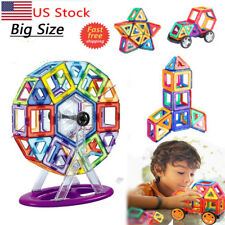 Large Magnetic Tiles magnetic Building Blocks Toys Kids Birthday Gifts 100 Pcs