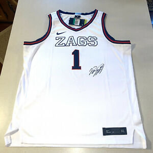 JALEN SUGGS #1 autographed signed GONZAGA BULLDOGS BASKETBALL JERSEY ZAGS NBA