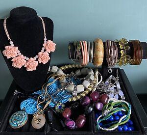 job lot costume jewellery used Nice Necklaces Bracelets Beads Lovely Lot