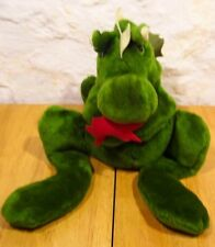 "Anva 1978 VINTAGE DRAGON HAND PUPPET 16"" Plush STUFFED ANIMAL Toy"