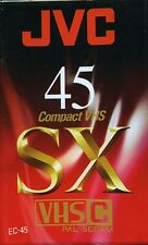 One JVC EC45 SX 45 Minute VHS-C factory sealed NEW